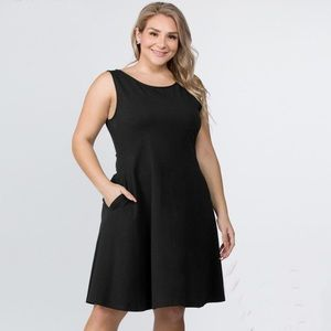 Sleeveless Fit & Flare Stretch Dress XL/1X 2X 3X